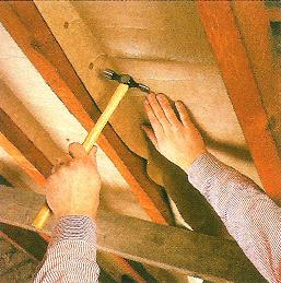DRAUGHTPROOFING BETWEEN RAFTERS